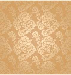 seamless pattern ornament floral background vector image