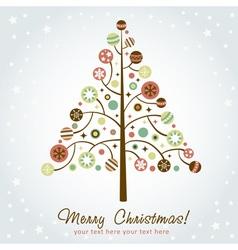 Stylized design Christmas tree vector image