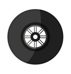 tire car race shadow vector image