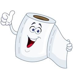 toilet paper cartoon vector image