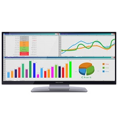 Ultra Wide Cinema HD Monitor vector image