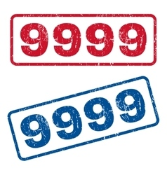 9999 Rubber Stamps vector image