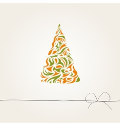 background with a stylized fir tree vector image