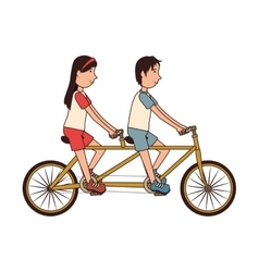 Bike transport vehicle icon vector