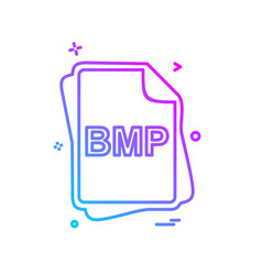 Bmp file type icon design vector