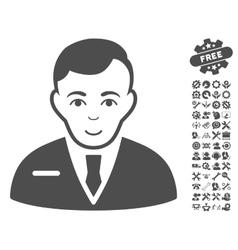 Businessman Icon With Tools Bonus vector