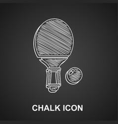Chalk racket for playing table tennis icon vector