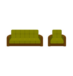 colorful icon chair and sofa collection of vector image