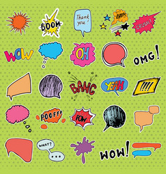 comic book speech bubbles and cartoon sound vector image