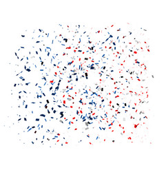 confetti in red blue and white colors on a white vector image