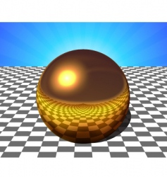 Copper sphere vector