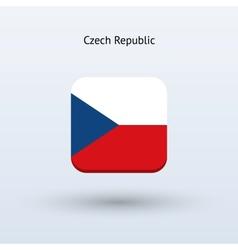 Czech republic flag icon vector