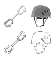 Design of mountaineering and peak symbol vector