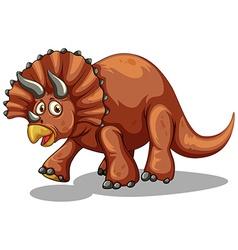 Dinosaur with horns on white vector