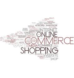 e-commerce word cloud concept vector image