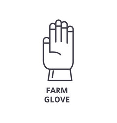 farm glove line icon outline sign linear symbol vector image