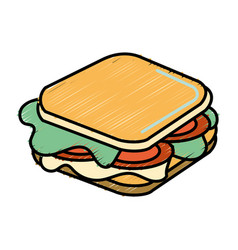 Fast food sandwich meal vector
