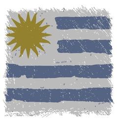 Flag of Uruguay handmade square shape vector image