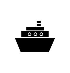 flat line ship icon vector image