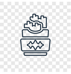 french fries concept linear icon isolated on vector image