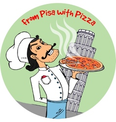 From Pisa with Pizza vector
