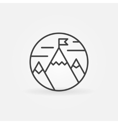 Goals achievement line icon vector image