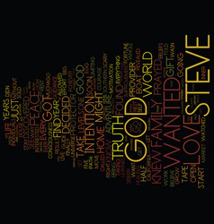 God is my guide text background word cloud concept vector