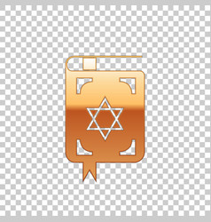 golden jewish torah book on transparent background vector image