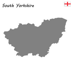 high quality map is a ceremonial county england vector image