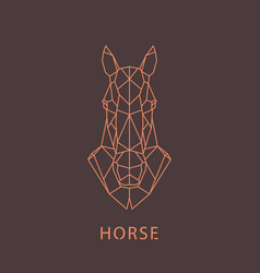 Horse head geometric silhouette design element vector