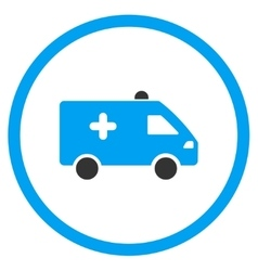 Hospital Car Rounded Icon vector