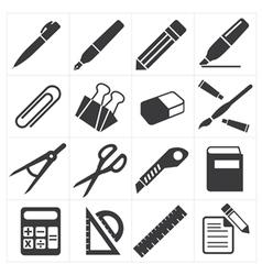 Icon stationary education vector