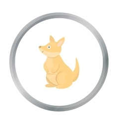 Kangaroo icon cartoon Singe animal icon from the vector image