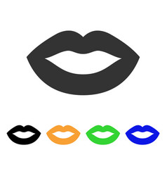 Lips smile icon vector