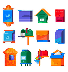 Mail box post mailbox or postal mailing vector