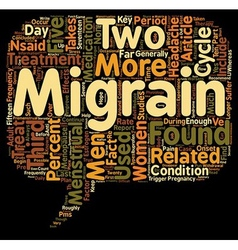 Migraines And Women text background wordcloud vector