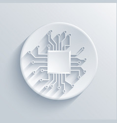 Modern circuit board icon vector