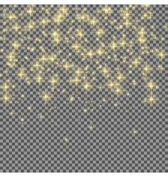 Neon Glitter Particles on Transparent Background vector image