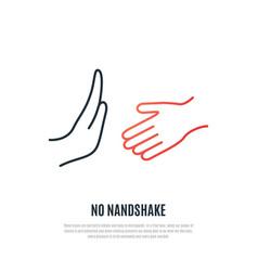 No handshake icon covid19 19 prevention concept vector