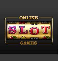 online slot games slot machine games banner vector image