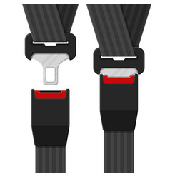 open and closed safety belt vector image