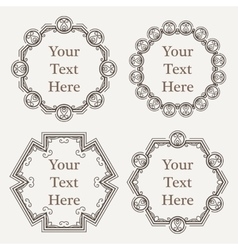 Ornate richly decorated vintage frame in vector