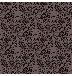 Pattern ornament skull vector