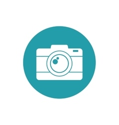 photo camera picture vacation travel button vector image