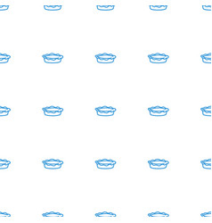 Pie icon pattern seamless white background vector