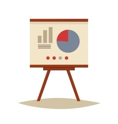 Presentation board with pie chart and infographic vector