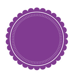 purple label round emblem decoration ornate vector image