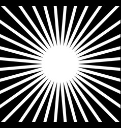 radial rays beams abstract monochrome background vector image