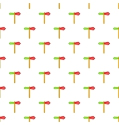 Red and green direction sign pattern cartoon style vector
