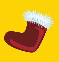 santa claus boot christmas boot vector image